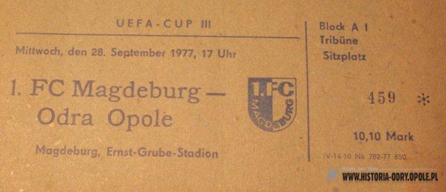 Zobacz archiwalne nagrania z meczu Odra - 1.FC Magdeburg w Pucharze UEFA! [WIDEO]